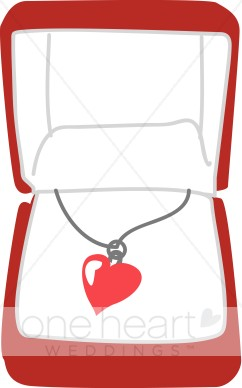 Red heart necklace.