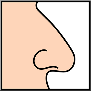 Nose smell clipart.