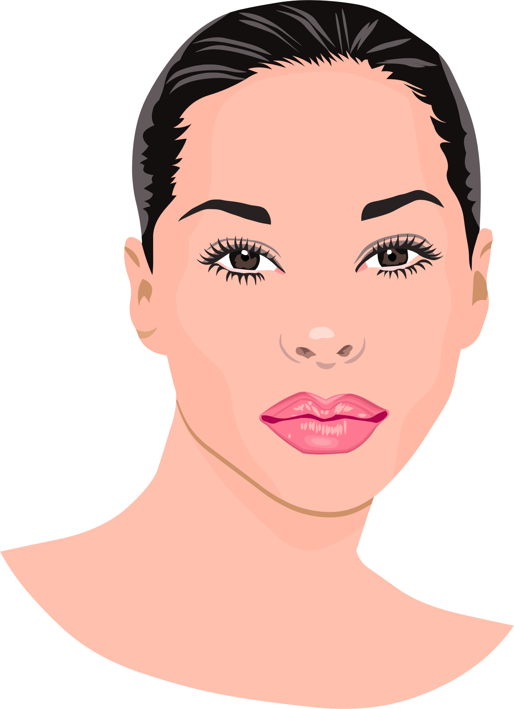 Clipart woman nose.