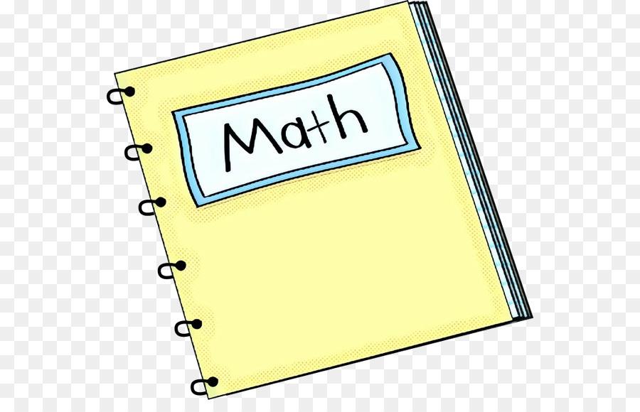 Math clipart notebook, Math notebook Transparent FREE for