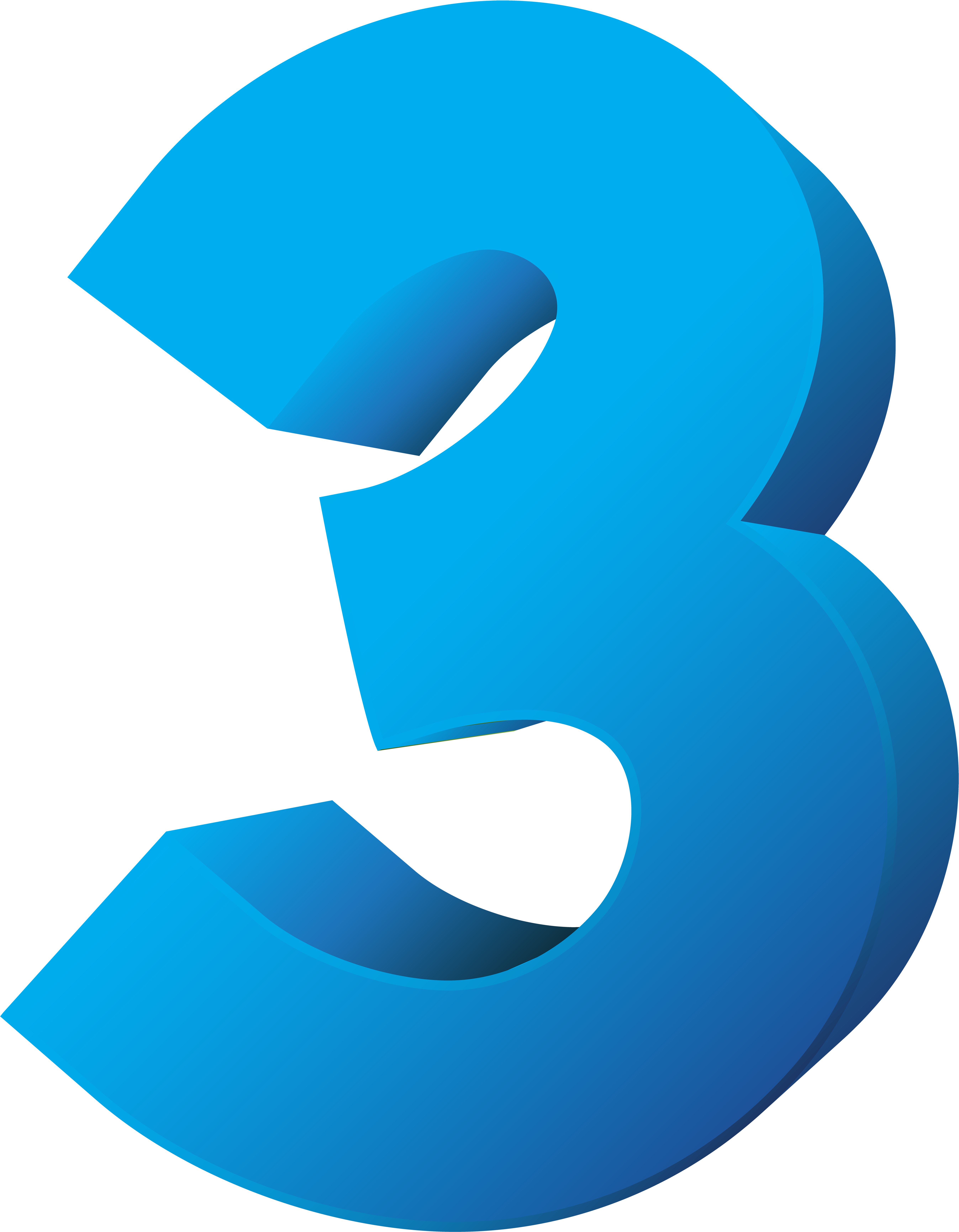 Number clipart blue.