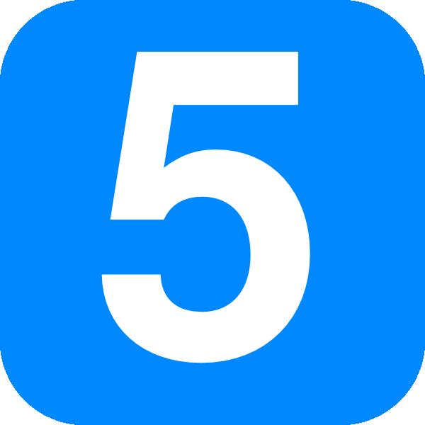 Blue number five.