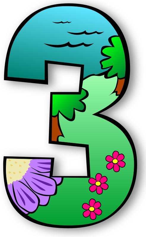 Number clipart individual.