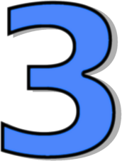 Number three clipart.