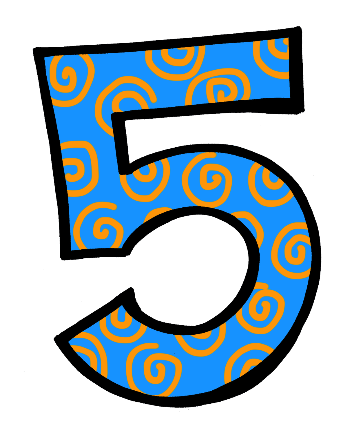 Individual numbers clipart.