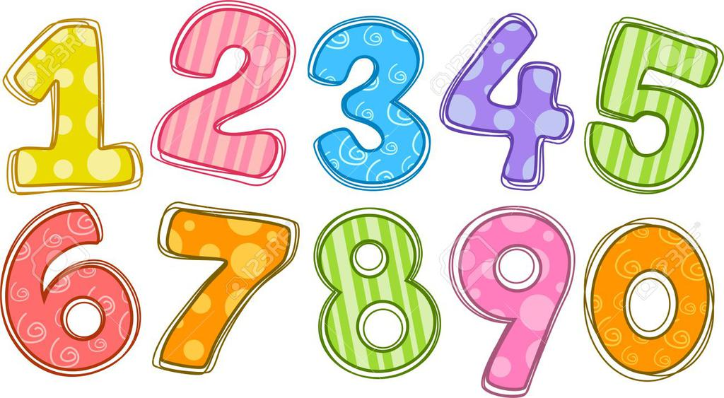 Numbers clipart printable.