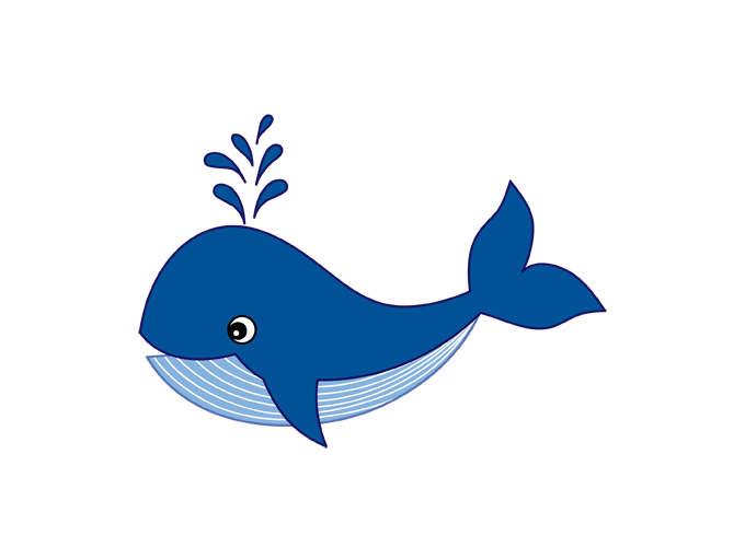 Whale clipart digital.