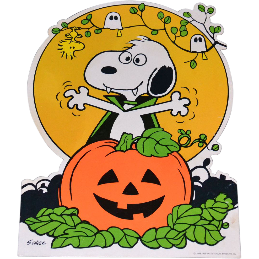 October clipart snoopy.