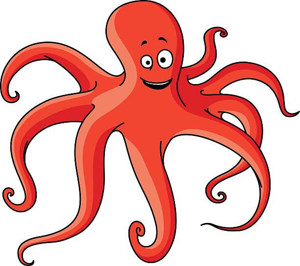 octopus clipart orange