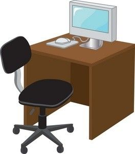 office clipart desk