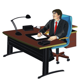 Man Going To Office Clipart