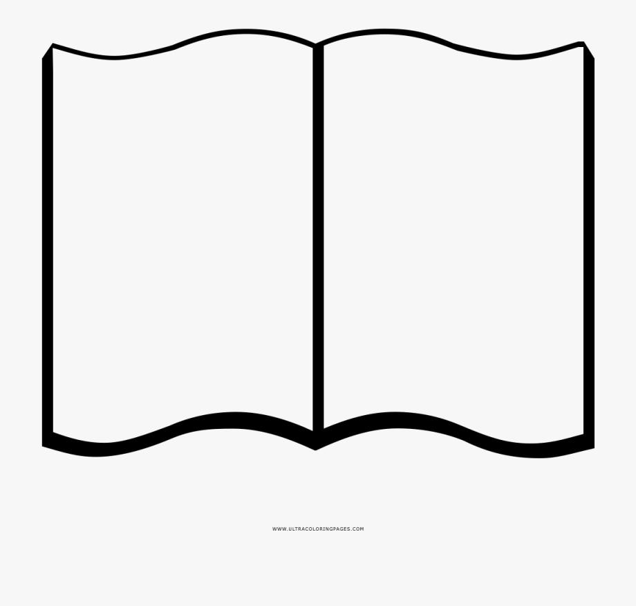 Blank open book.