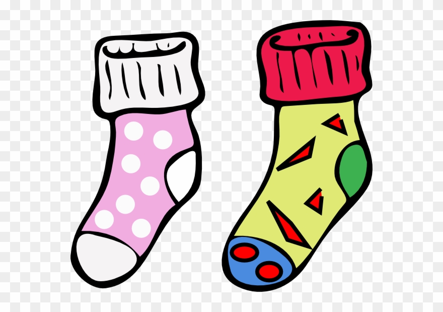 Colouring pictures socks.