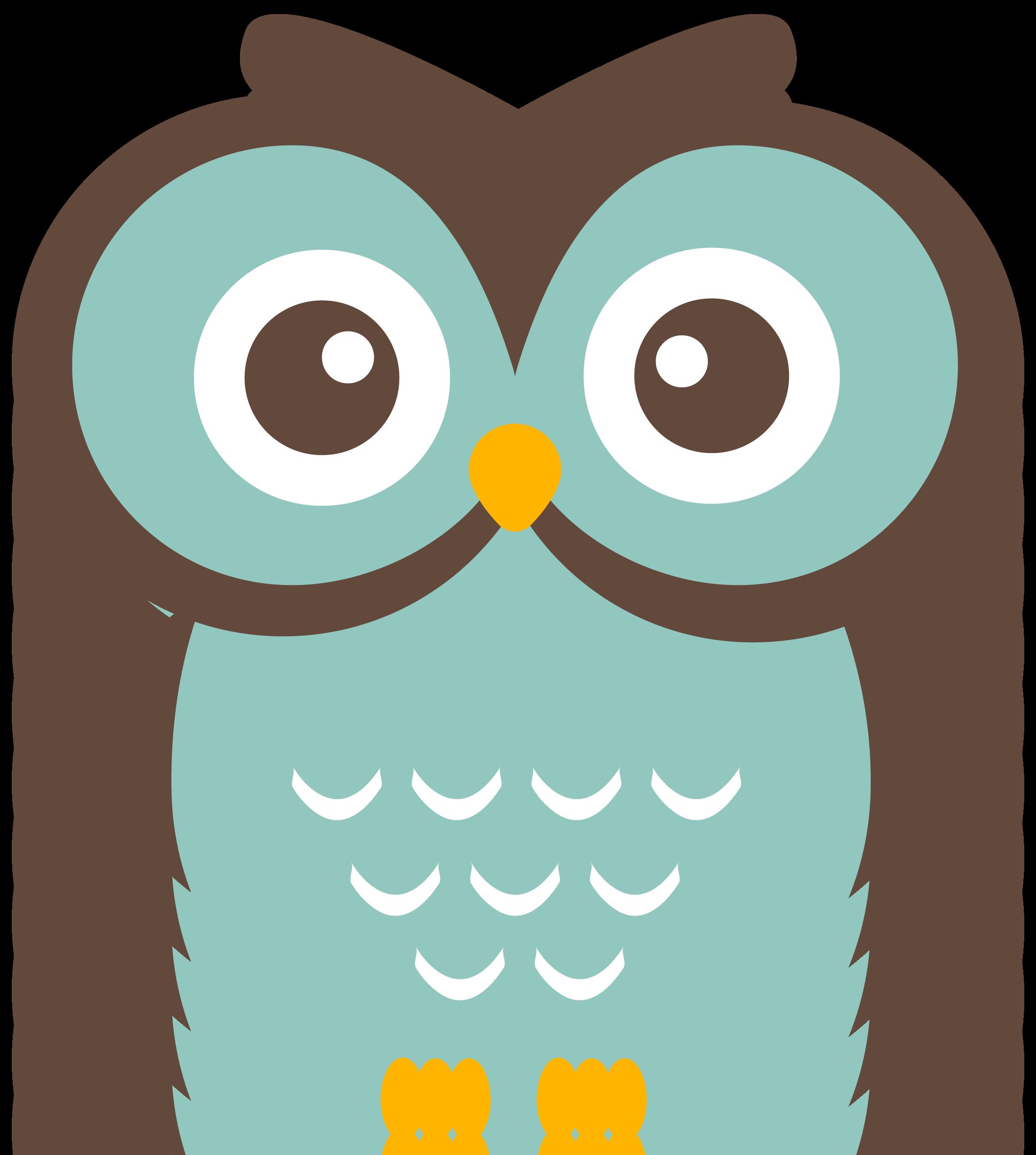 Teal owl clipart.