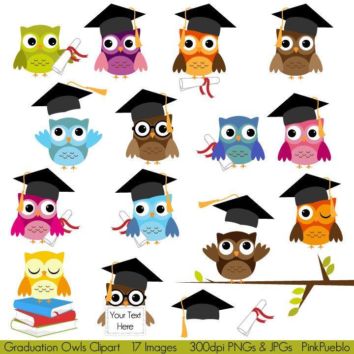 Graduation owls clipart.