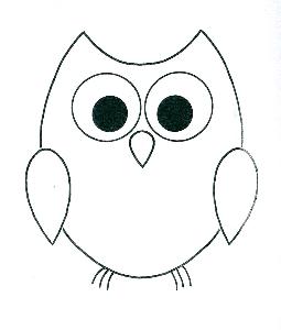 Simple owl outline.