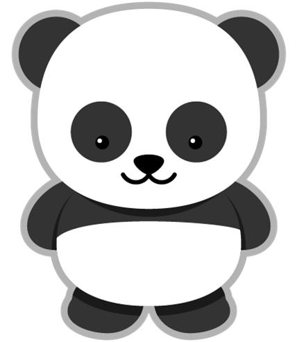 Panda clipart .