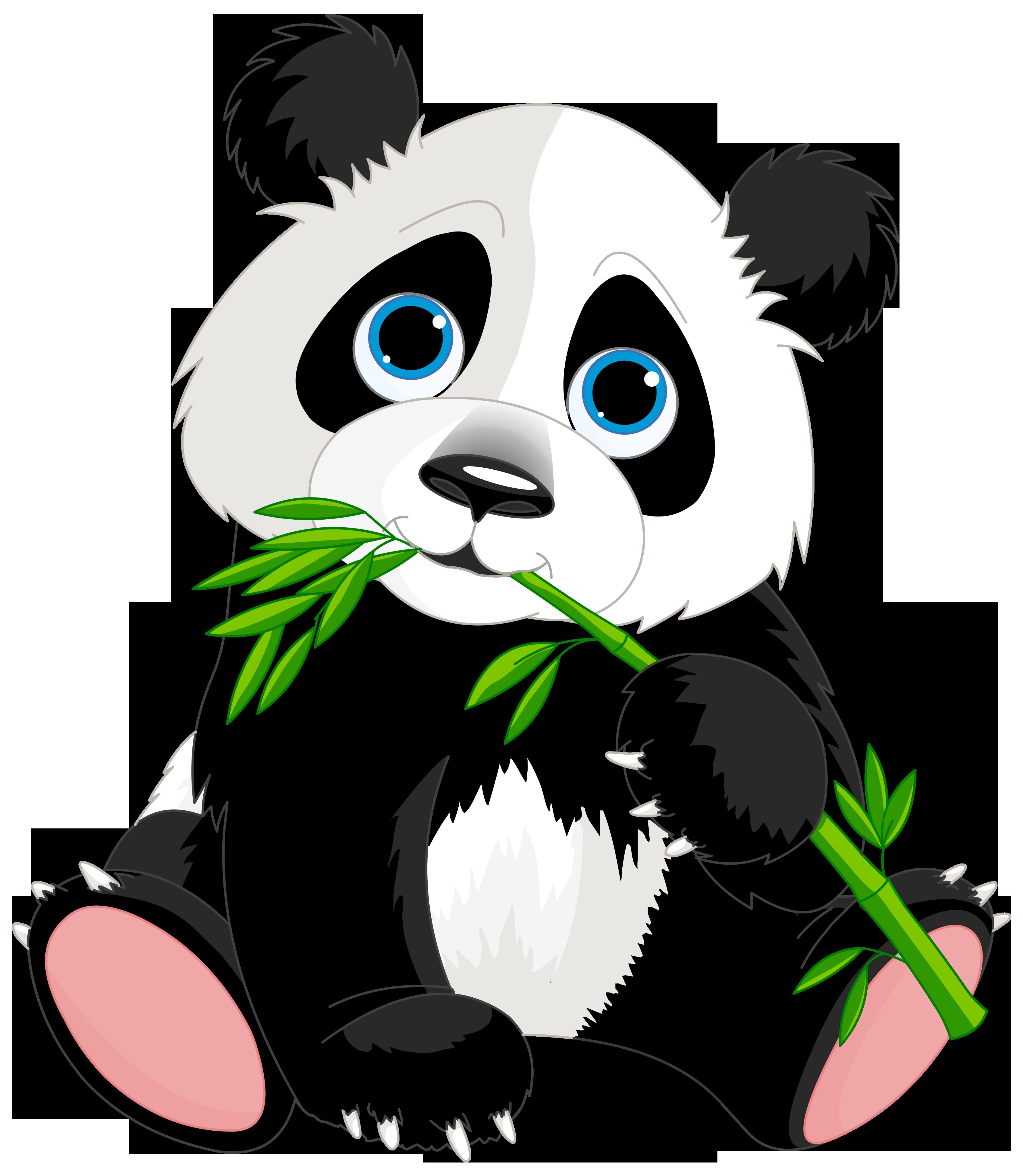 Cute panda cartoon.