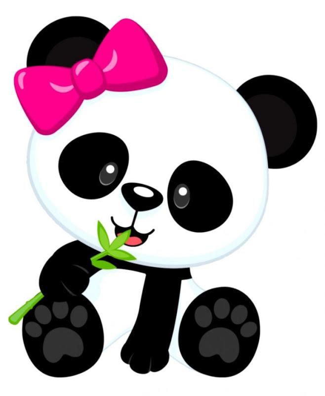 Cute panda clipart.