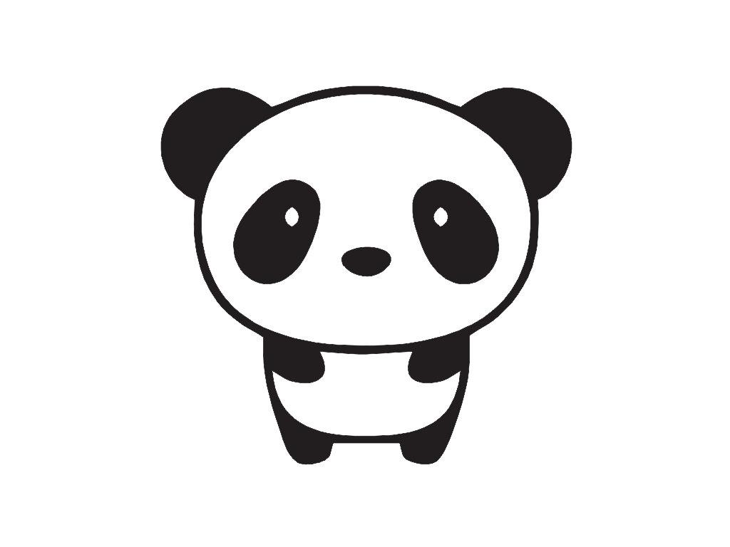 Chibi panda clipart.