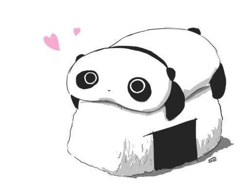 Panda kawaii chibi.