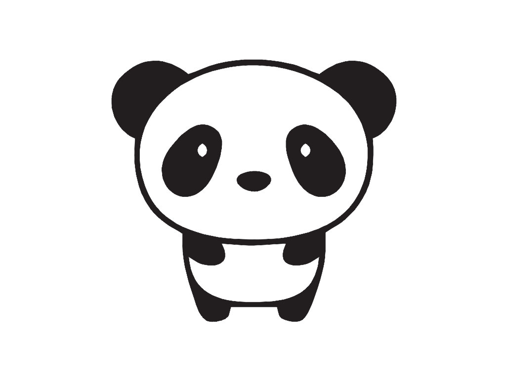 Simple panda drawing.
