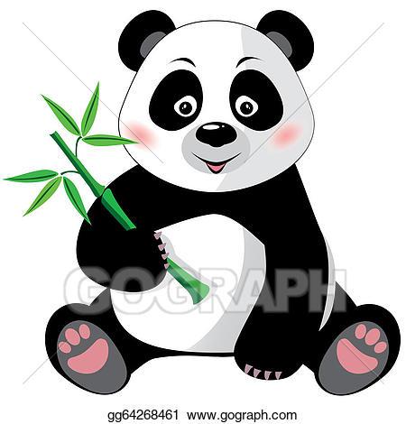 Vector art panda.