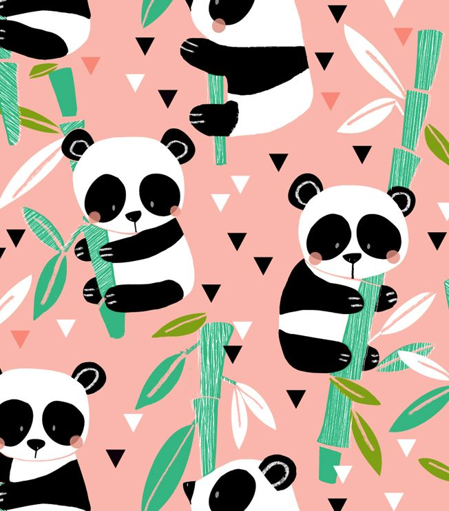 Panda paws graphic.