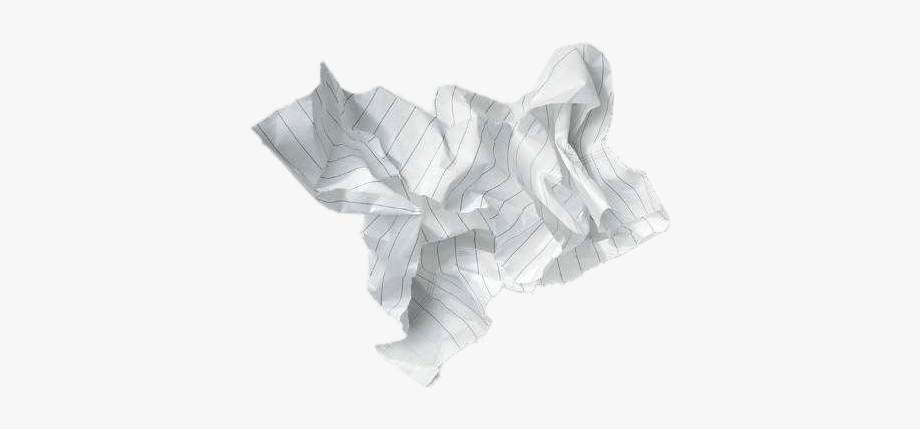 Crumpled lined sheet.
