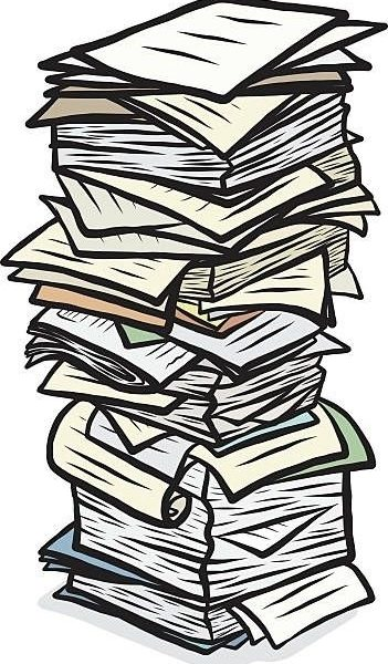 Document clipart stack.