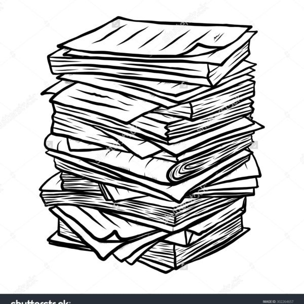Stack papers clipart.