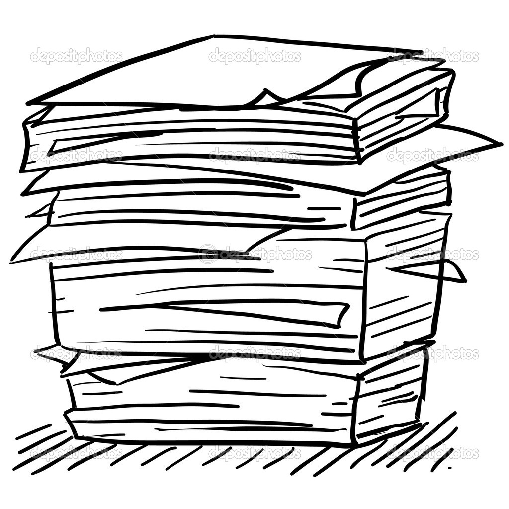 Stack paper clipart.