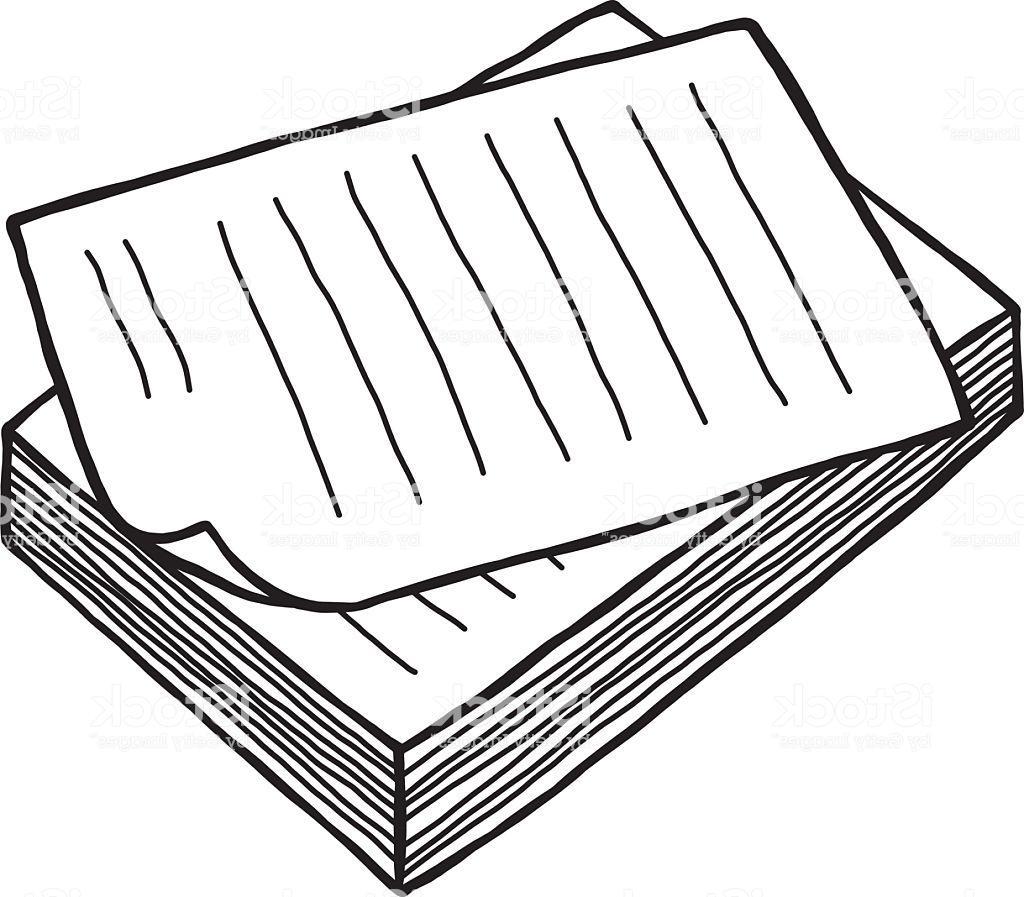 Unique pile paper.