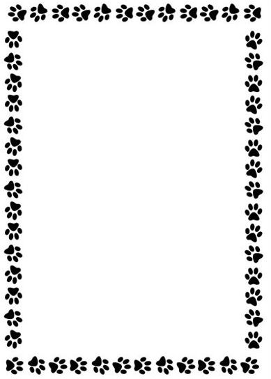 paw print border clipart