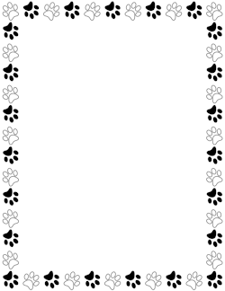 Paw print border clipart bear. Free animal borders clip