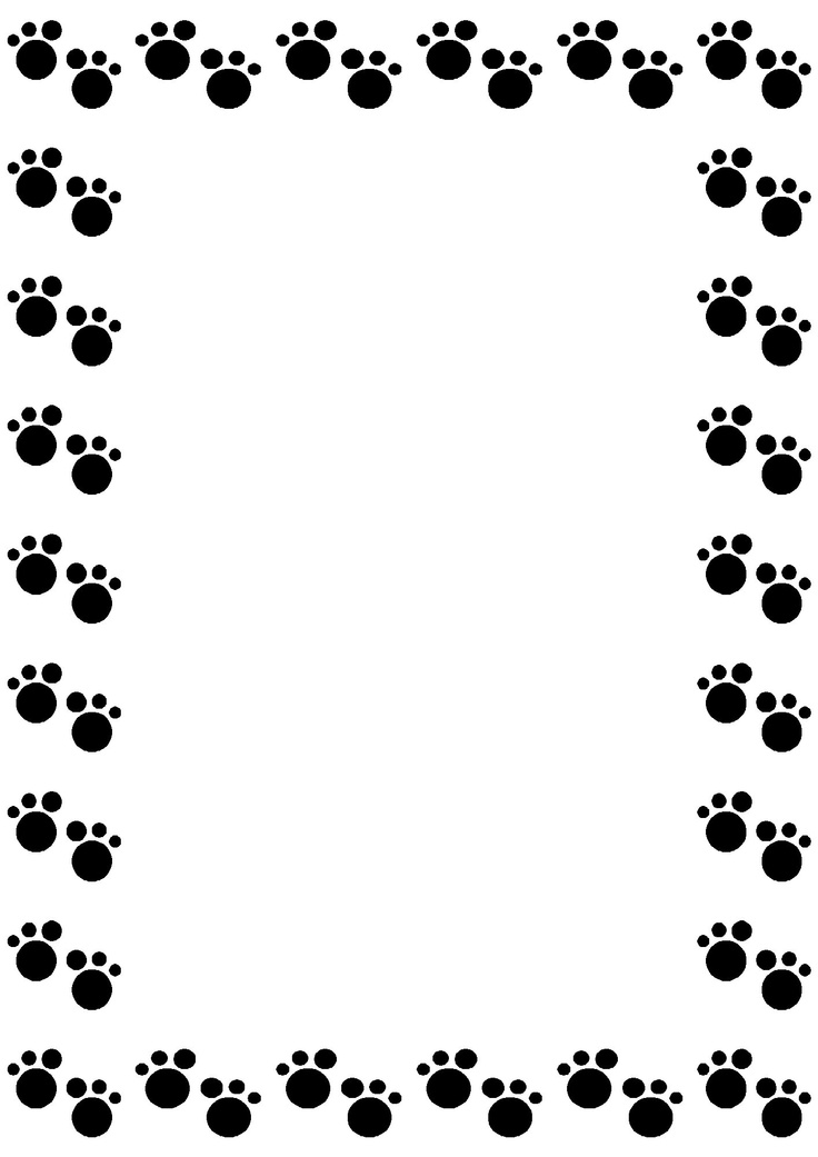 Dog paw border.