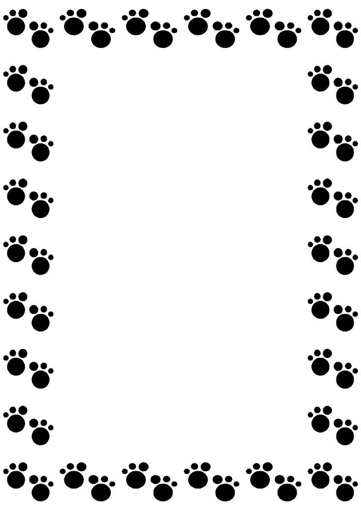 Paw print border clipart bear. Dog panda free images