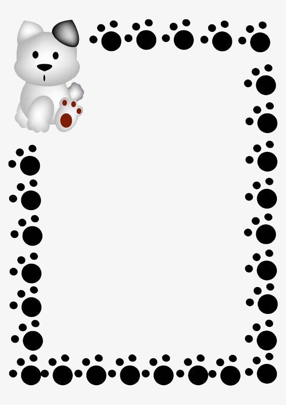 Paw print border clipart bear. Prints gra png