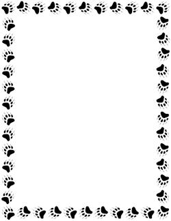 Paw print border clipart bear. Paw print border clipart bear. Paper art borders frames