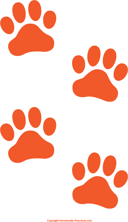 cat paw print clipart tiger