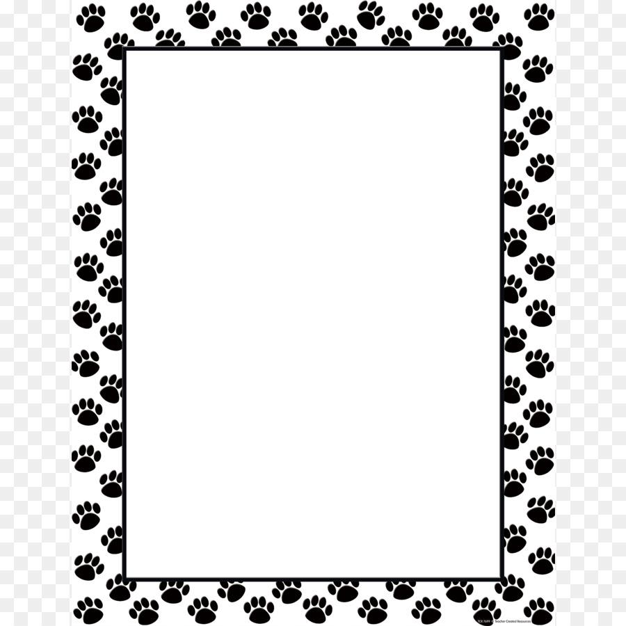 Paw print border clipart bear. Cat and dog cartoon