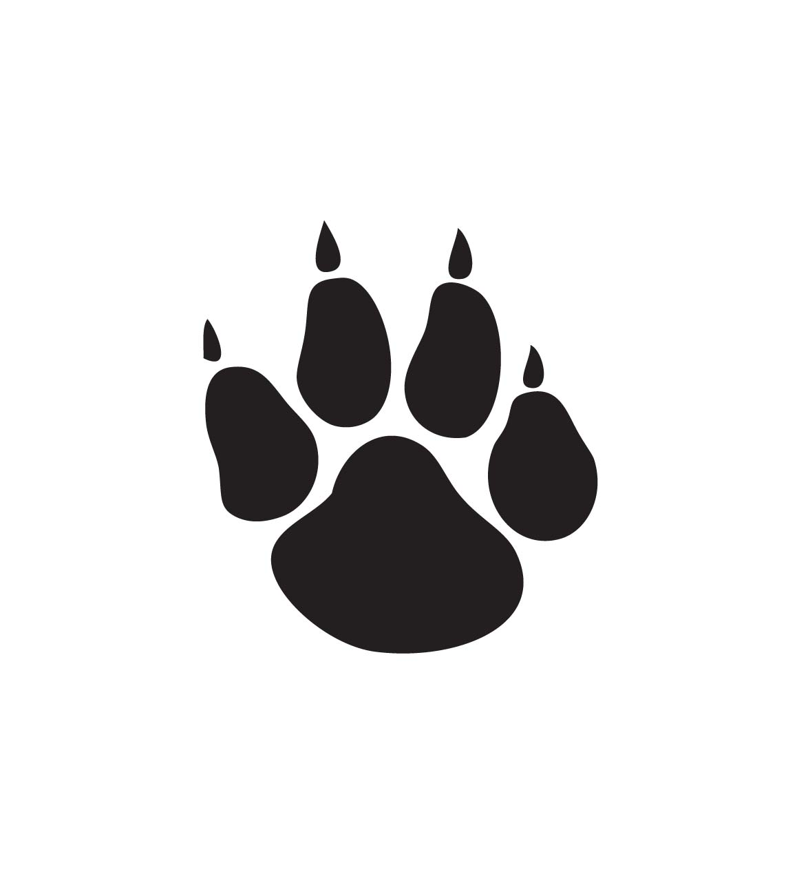 cat paw print clipart claw
