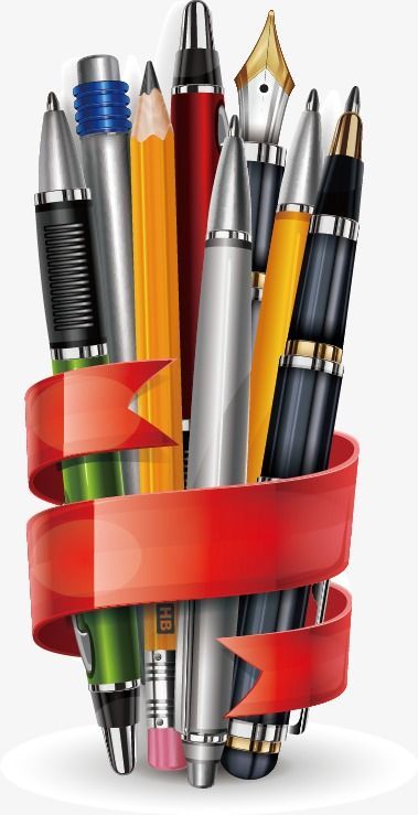 Stationery Vector Material, Stationery, School Supplies, Pen