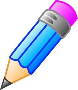 Blue pencil education.