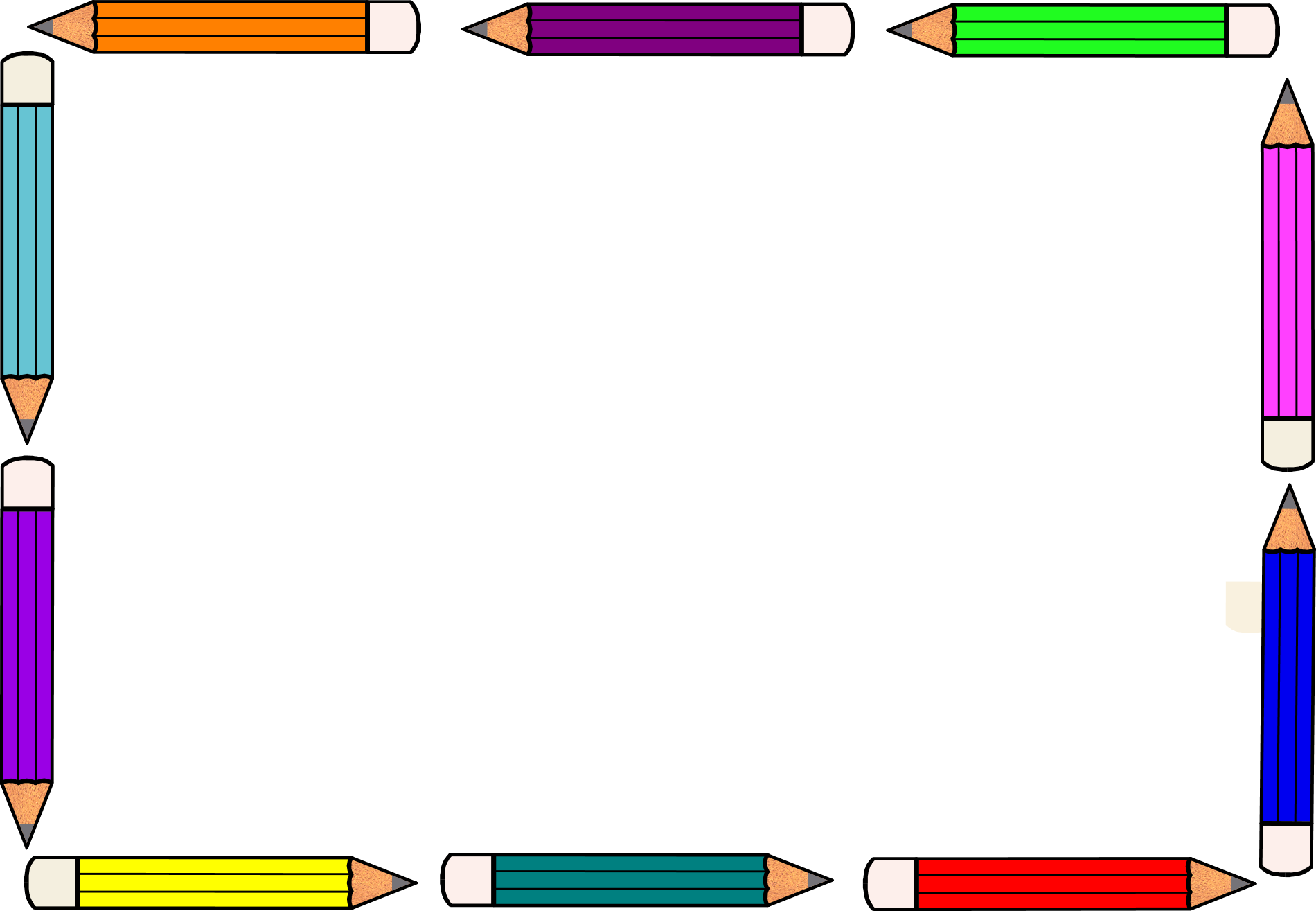 Free pencil border.