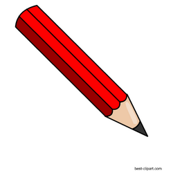 Red pencil free.