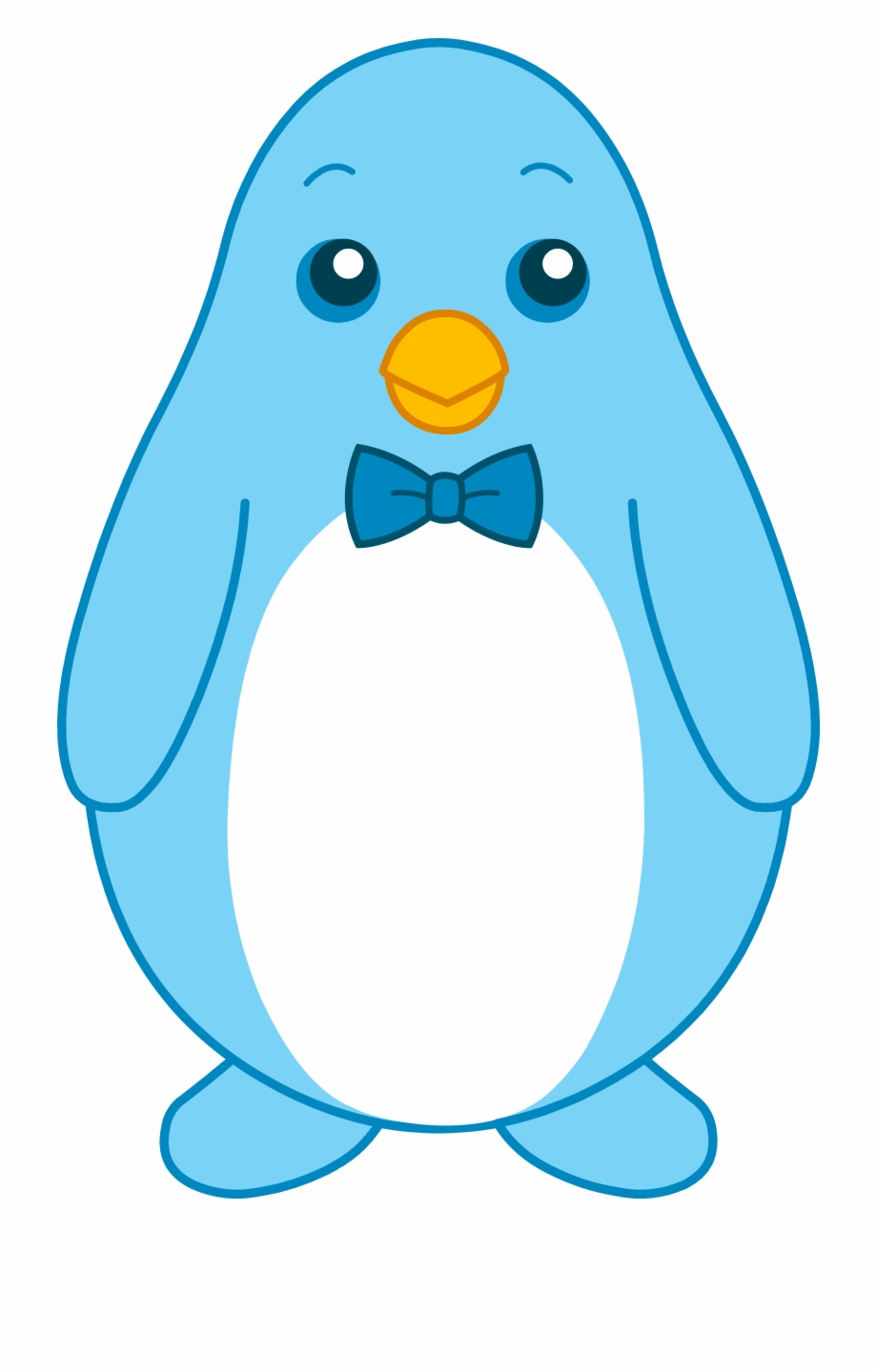 Little Blue Penguin With Bow Tie