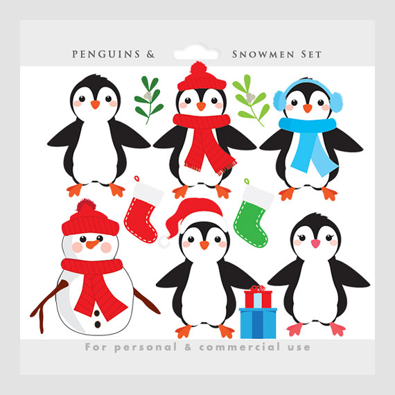 Penguin clipart christmas.