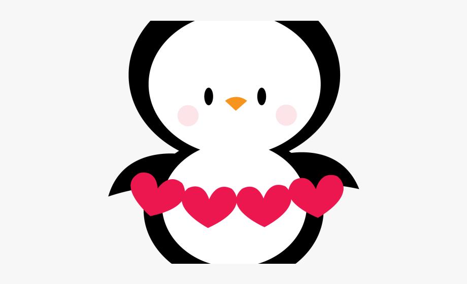 Clipart heart penguin.