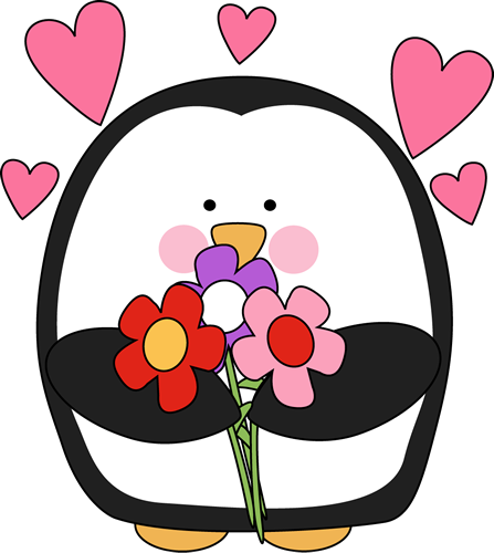 Free valentine penguin.